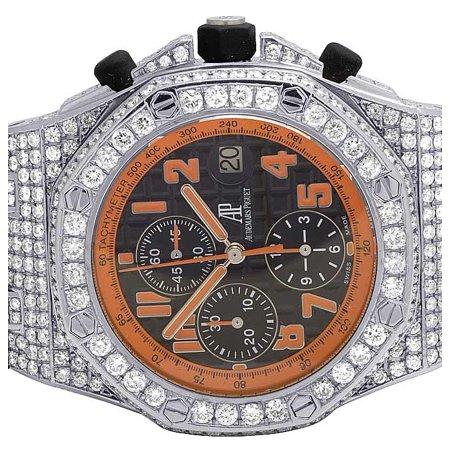 Audemars Piguet Mens 42 MM Audemars Piguet Royal Oak Offshore Volcano Diamond Watch (12.5 Ct)