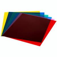 "Neewer 7""x8""/18 x 20 cm Transparent Color Correction Lighting Gel Filter Set Pack of 6 Gel Sheet for Photo Studio Strobe Flash Light (Red,Blue,Green,Cyan,Yellow,&Magenta)"