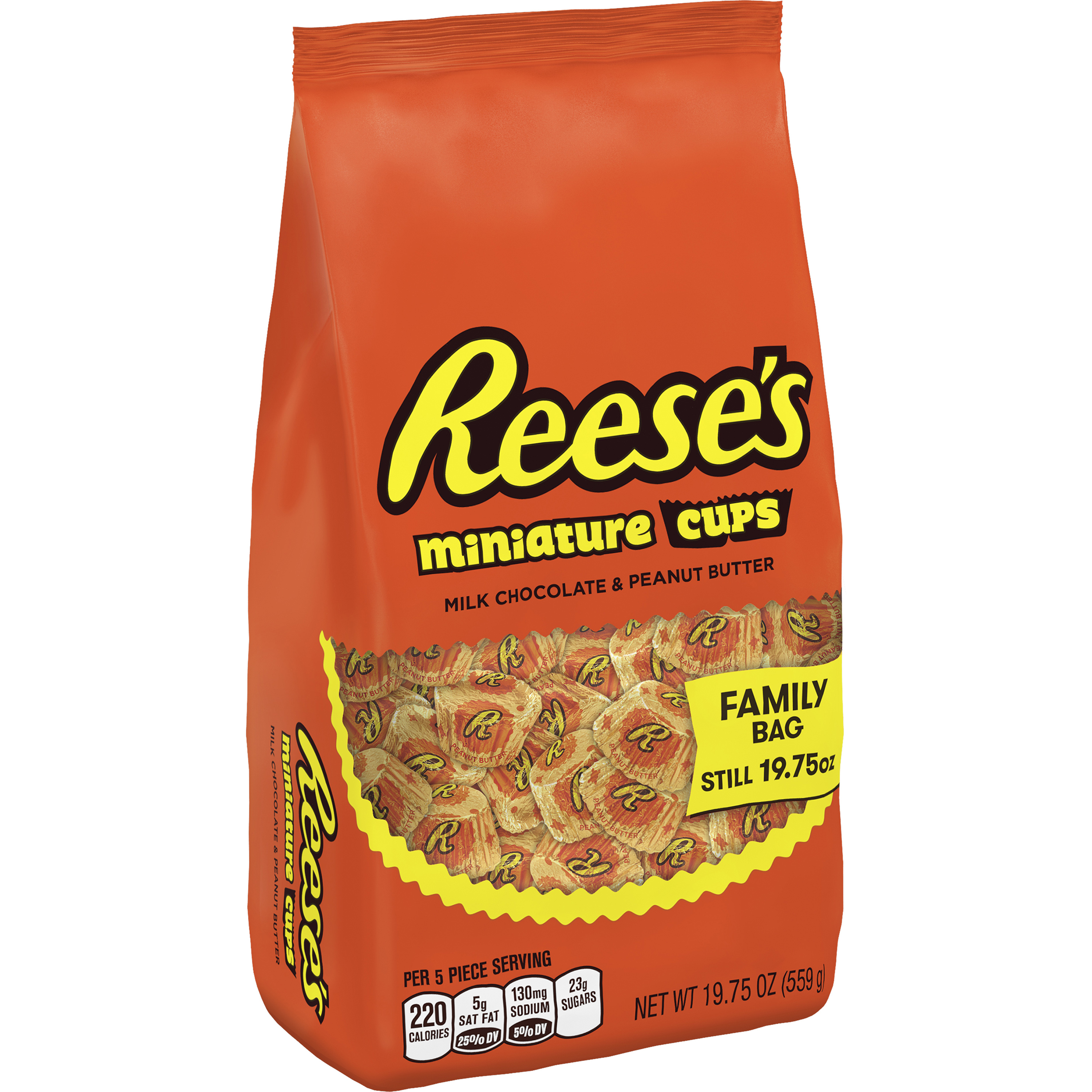 Reese's Miniature Candy Family Bag, 19.75 Oz.