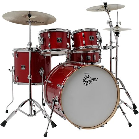 gretsch drums energy vb 5 piece drum set with zildjian cymbals red. Black Bedroom Furniture Sets. Home Design Ideas