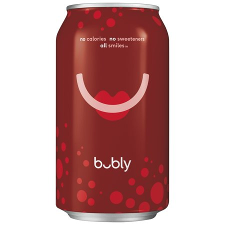 bubly Sparkling Water, Cherry, 12 oz Cans, 18