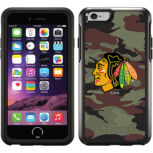 Chicago Blackhawks Traditional Camo Design on OtterBox Symmetry Series Case for Apple iPhone 6