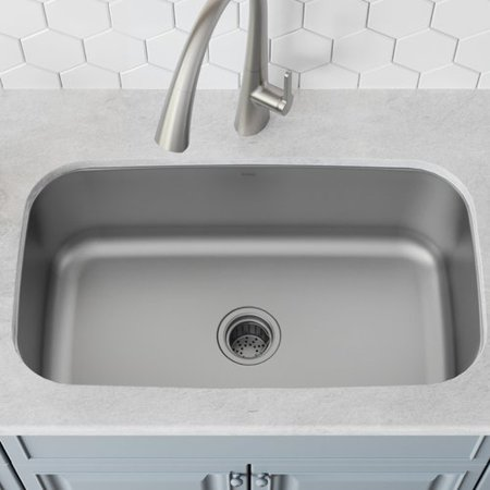 Kraus Stainless Steel 31\'\' L x 19\'\' W Undermount Kitchen Sink with ...