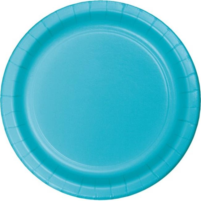 Hoffmaster Group 553552 9 in. Dinner Plates, Bermuda Blue - 8 per Case - Case of 12