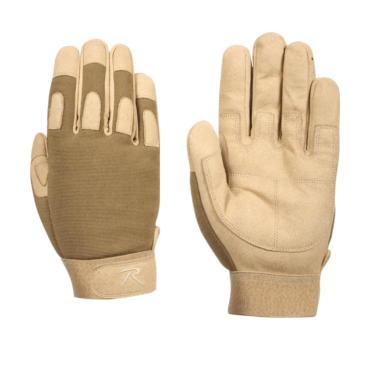 Rothco 4460//4461 Padded Knuckle Tactical Gloves Coyote Brown or Black