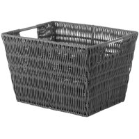 "Whitmor Rattique Small Storage Tote - Grey - 9.875"" x 12.625"" x 7.9"""