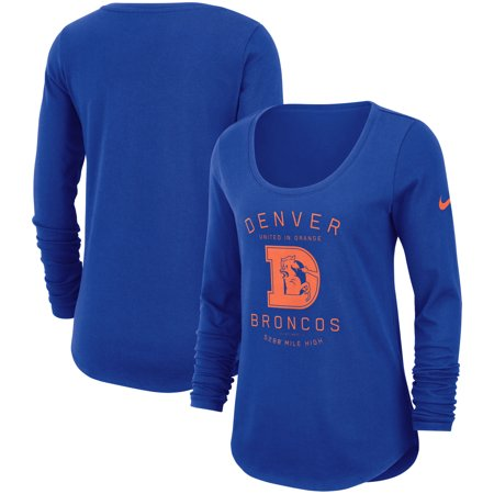Denver Broncos Nike Women's Team Slogan Long Sleeve T-Shirt - Royal