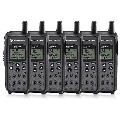 Motorola DTR-410 (6 Pack) Digital 2-Way Radio by MOTOROLA