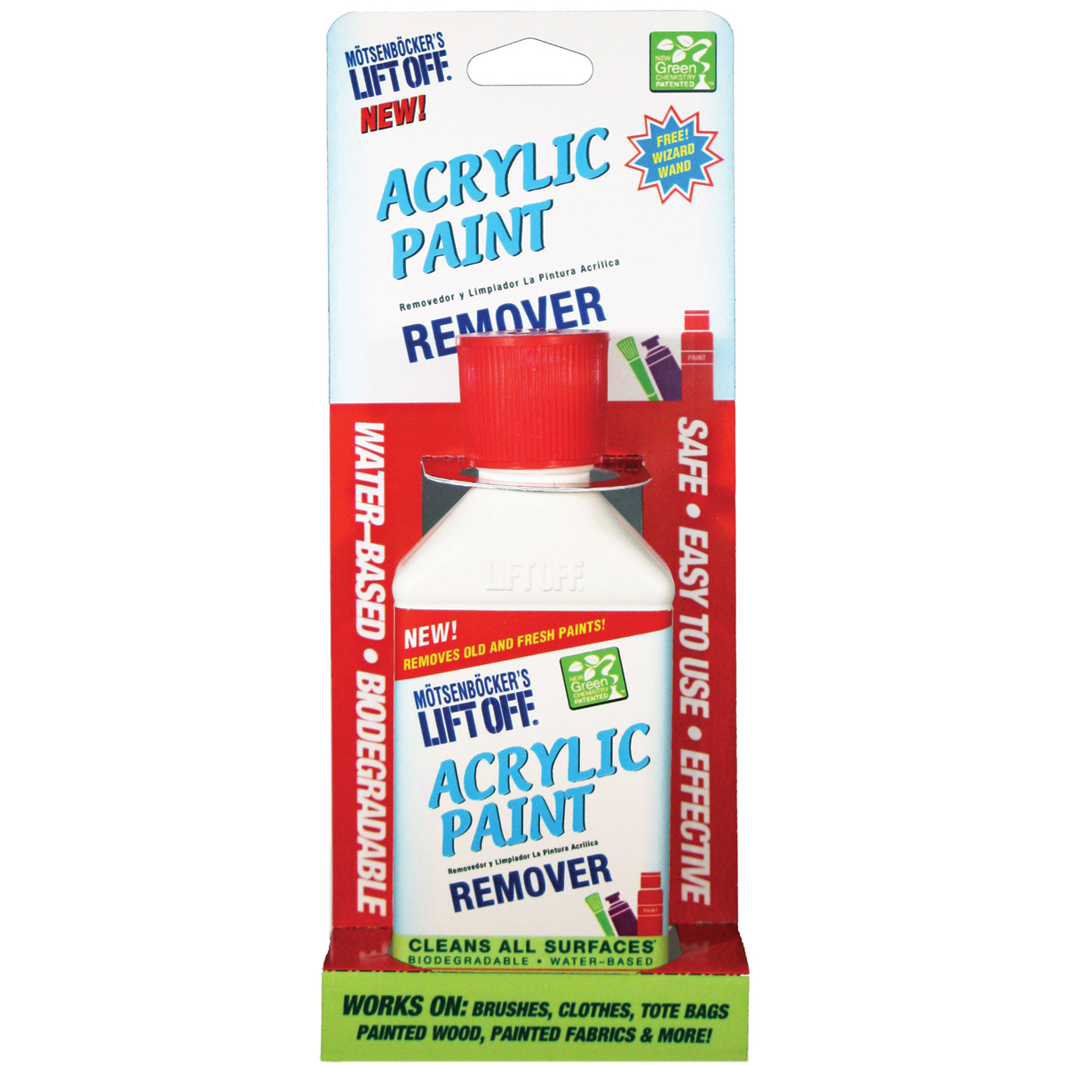 Click here to buy Lift Off Acrylic Paint Remover, 4.5 oz by Motsenbacher.