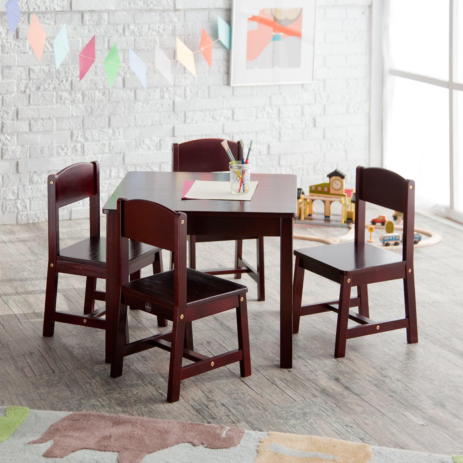 KidKraft Farmhouse Table U0026 4 Chair Set   Espresso   Walmart.com