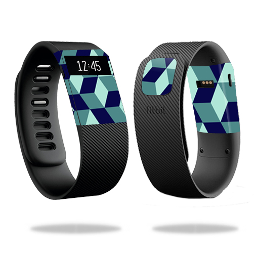 Skin Decal Wrap for Fitbit Charge cover skins sticker watch Geo Tile