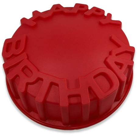 Sorbus Silicone HAPPY BIRTHDAY Cake Mold Perfect For Any Birthday Celebration