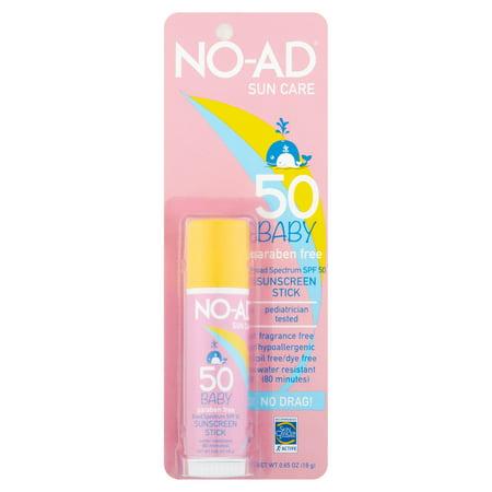 No Ad Sun Care Baby Sunscreen Stick  Spf 50   65 Oz