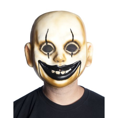 Adults Creepy Circus Clown Doll Comic Performer Baby Mask Costume - Creepy Toddler Costumes