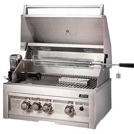 SUNSTONE Grills SUN3B-IR-LP 28 3 Burner Gas Grill with Rotisserie