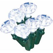 Holiday Time LED Gem Christmas Lights, Cool White, 60-Count
