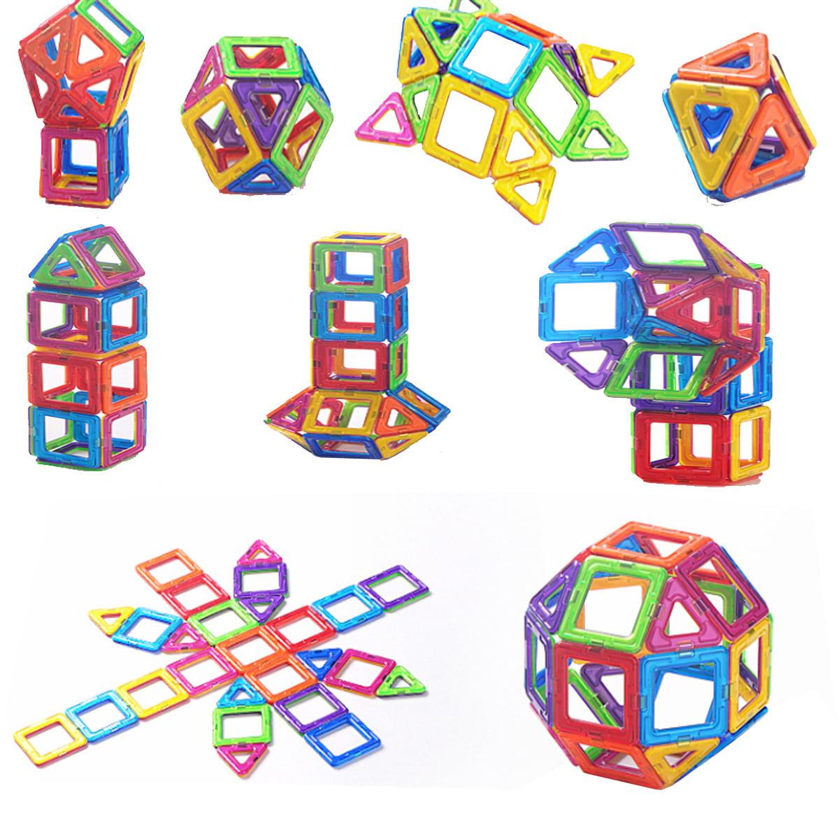 Enjoyable Mathematic toy MAGNETIC BLOCKS 158 Piece Stacking Blocks Set