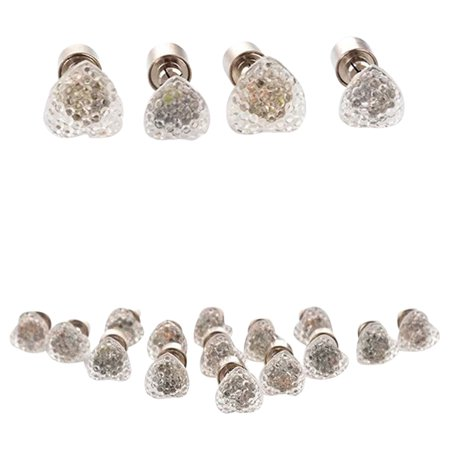 Rolling Lit LED Light Up Assorted Stud Earrings - Heart
