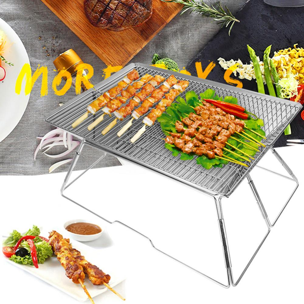 Portable Folding Barbecue BBQ Charcoal Grill Shelf Rack for Outdoor Camping Picnic, Camping Grill,Grill