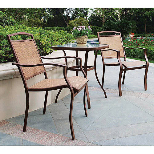 Mainstays Sand Dune 3 Piece Outdoor Bistro Set, Tan   Walmart.com