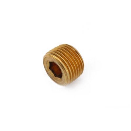 Anderson Metals 756115-08 Pipe Fitting, Countersink Plug, Lead-Free Brass, 1/2-In.