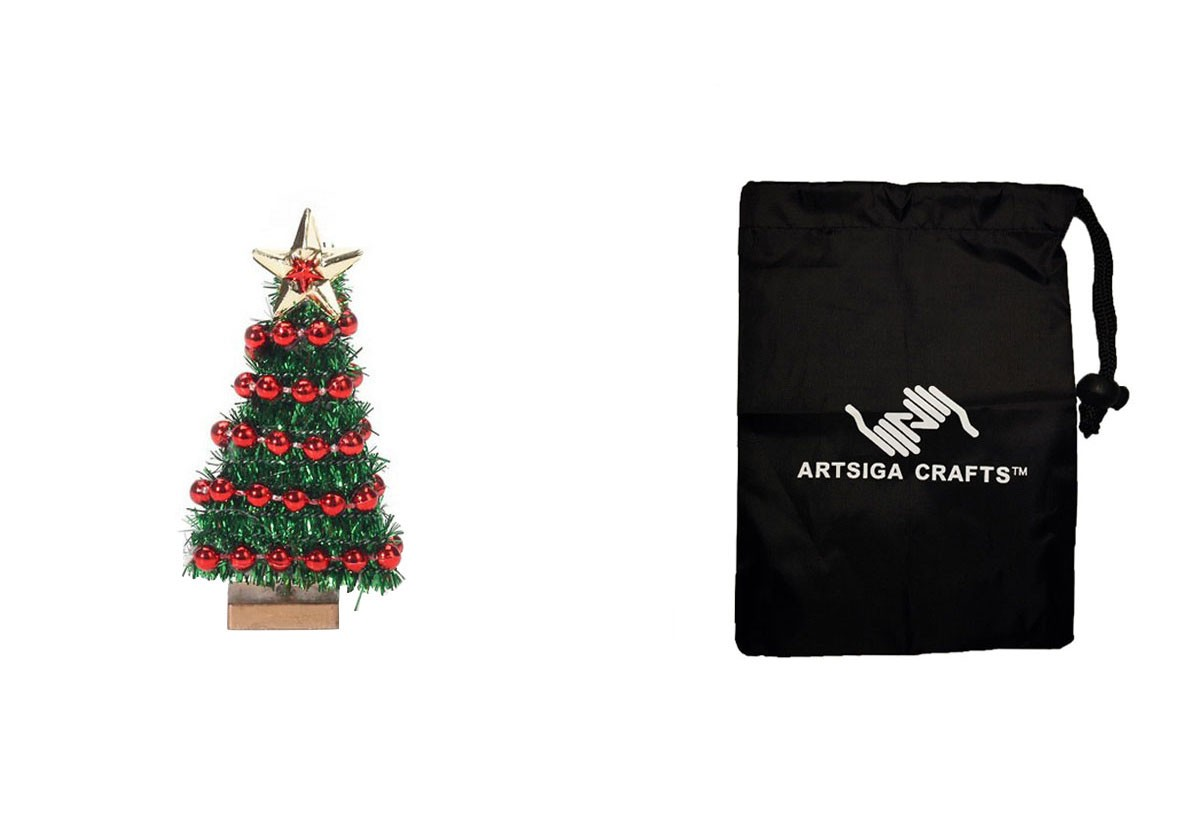 Darice Christmas Ornament Miniature Christmas Tree W/ Bead