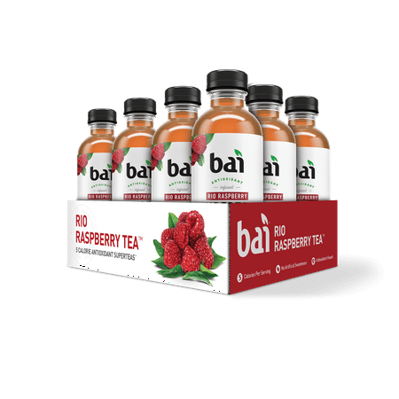 Bai Supertea Rio Raspberry Tea, 18 Fl Oz (Best Bottled Teas To Drink)
