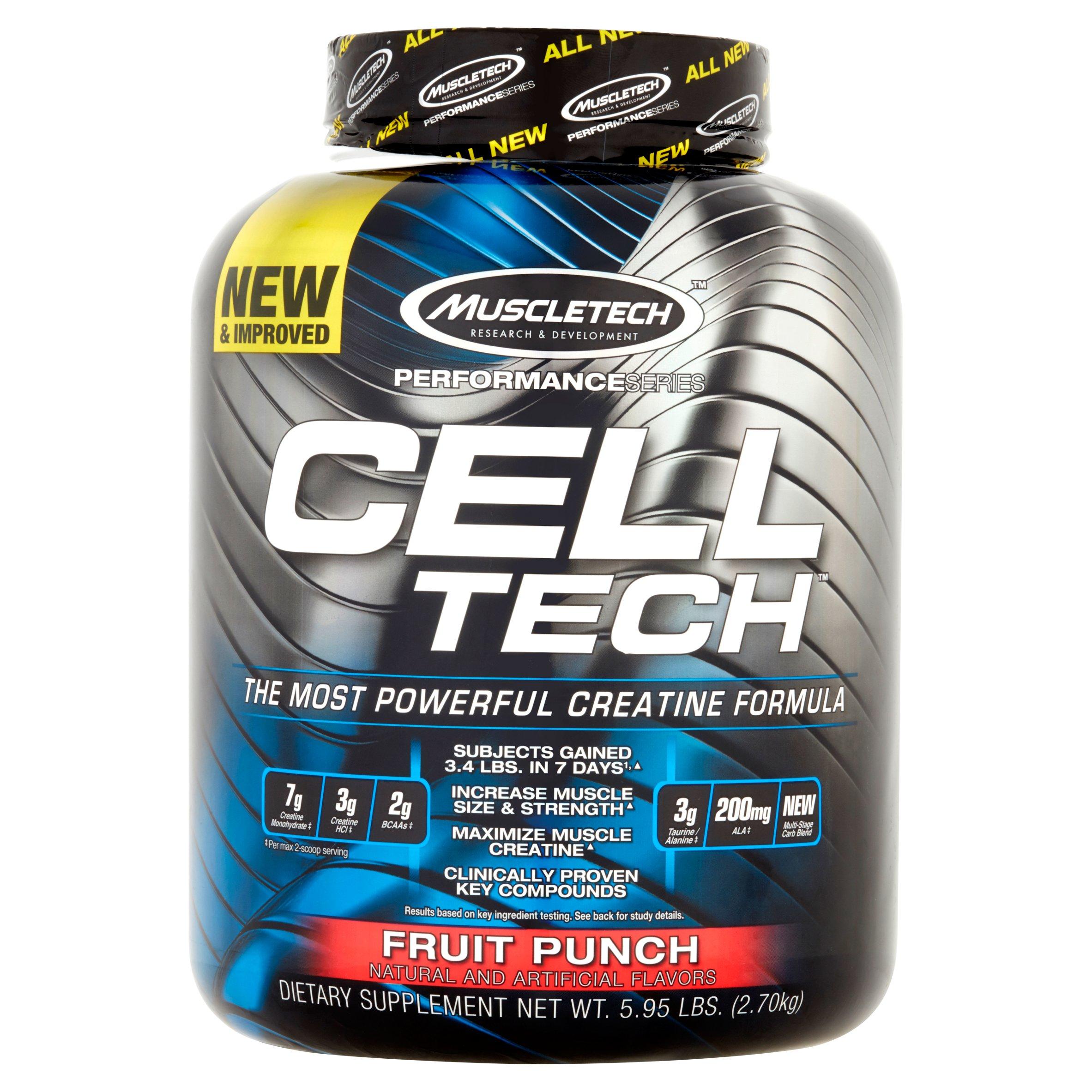 MuscleTech Cell Tech Creatine Powder, Fruit Punch, 55 Servings