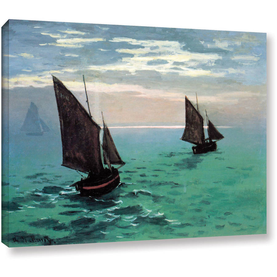 "Claude Monet ""Two Sailboats"" Gallery-Wrapped Canvas"