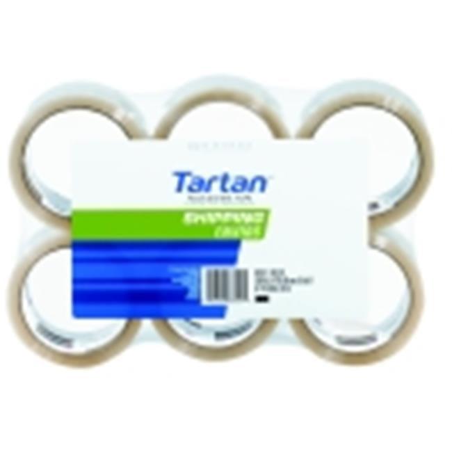 Tartan General Purpose Shipping Tape, Clear, Pack - 6
