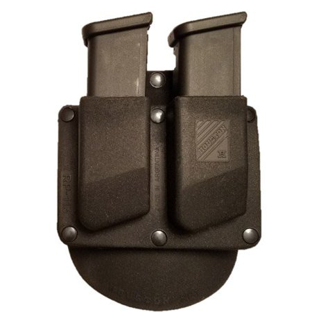 Double Paddle Mag Pouch - Houston Gun Holsters Double Paddle Tactical Magazine Pouch Thermo Molded 9mm/.40 Glock (Stationary) (RP113G)