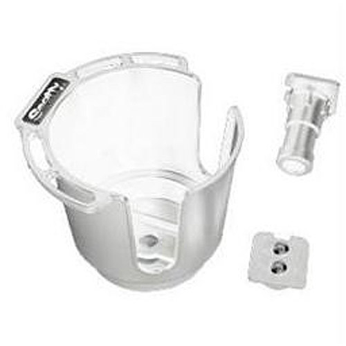 Scotty Cup Holder with Rod Holder Post and Bulkhead Gunnel Mount, White by Scotty