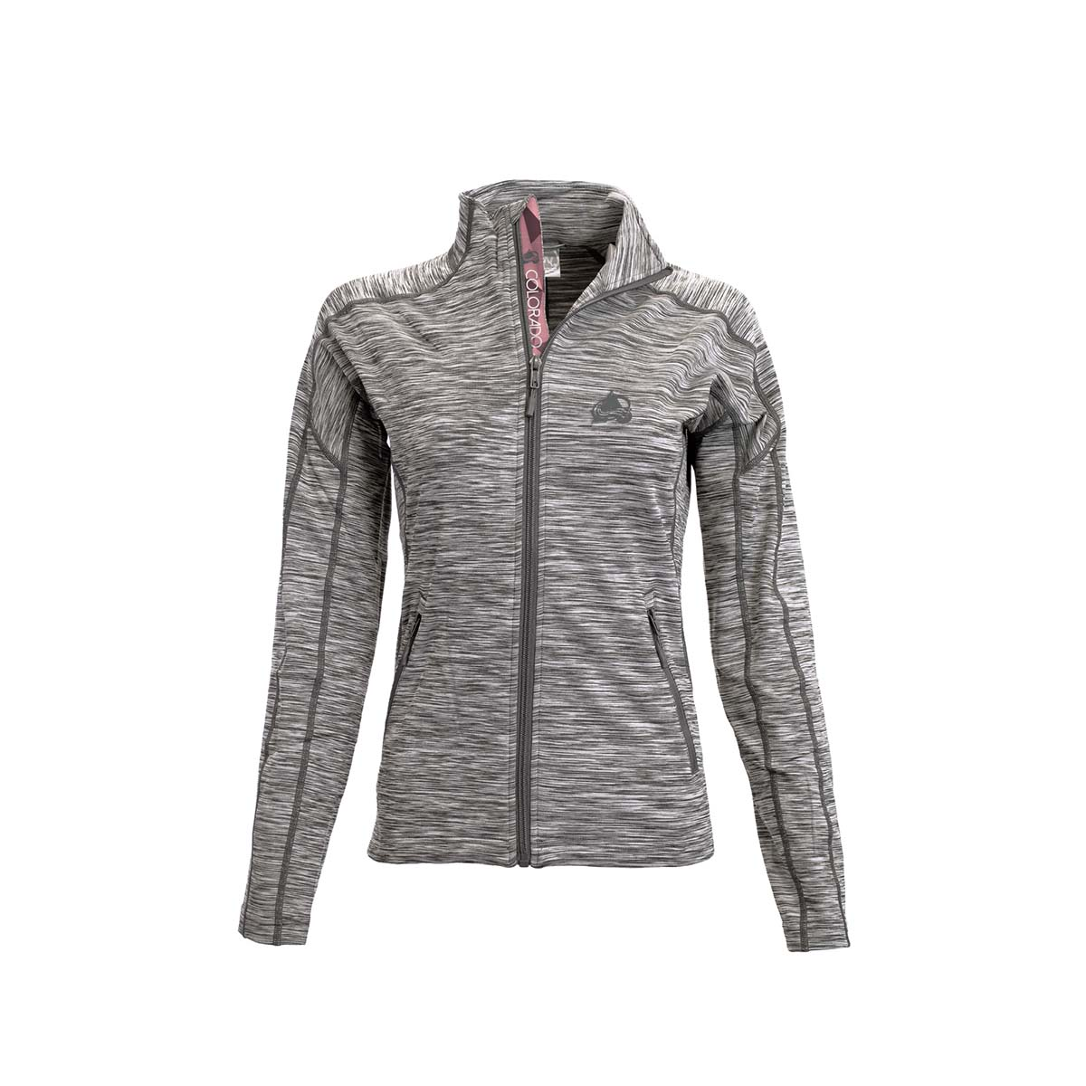 Colorado Avalanche Womens Diamond Type Atlantis Jacket (Charcoal) by Levelwear