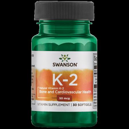 Swanson Vitamin K-2 - Natural 50 mcg 30 Sgels (Best Vitamin K Supplement)