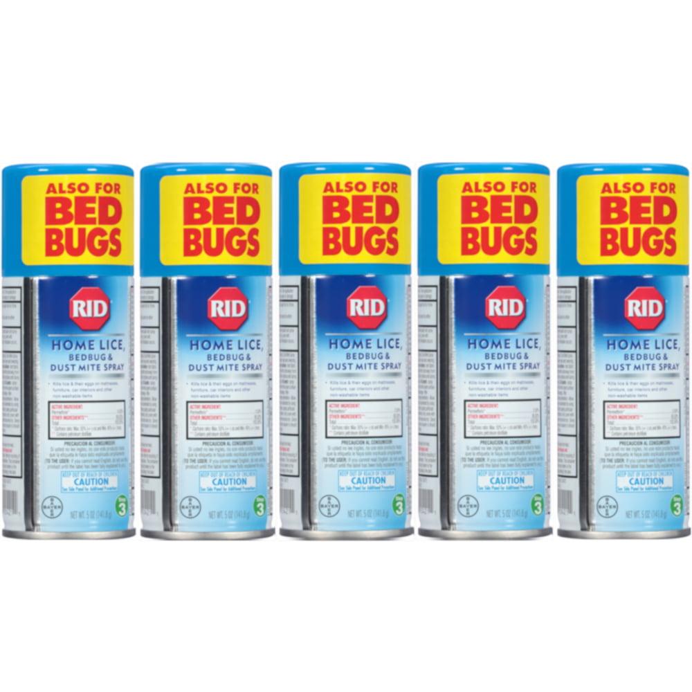 5 Pack RID Step 3 Home Lice, Bedbug & Dust Mite Spray 5 oz (141.8 g) Each