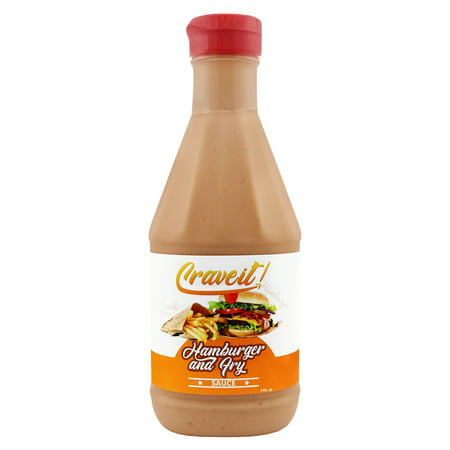 Crave it Hamburger and Fry Sauce - Add Flavor to French Fries and Burgers - 1 Pack Classic White Flavored Sauce