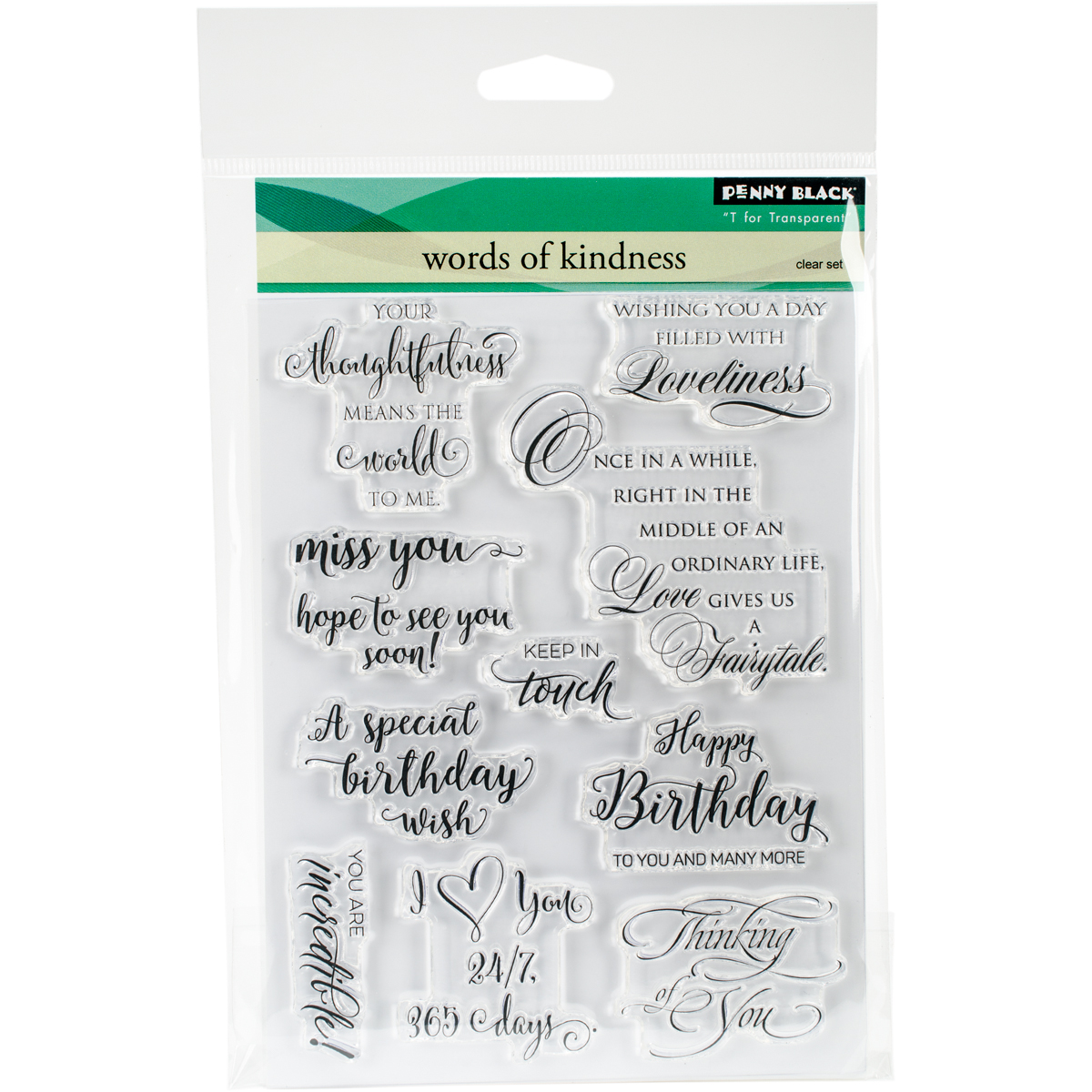Penny Black Clear Stamps-Words Of Kindness