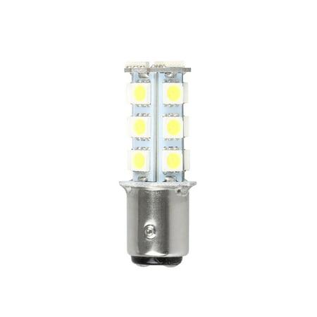 - Super Bright White 1157 BAY15D Base Super Bright 18 SMD Lens LED Bulbs Brake Turn Signal Tail Backup Reverse Brake Light Lamp White 12V