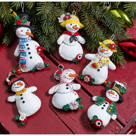 Bucilla Seasonal - Felt - Ornament Kits - Walmart.com