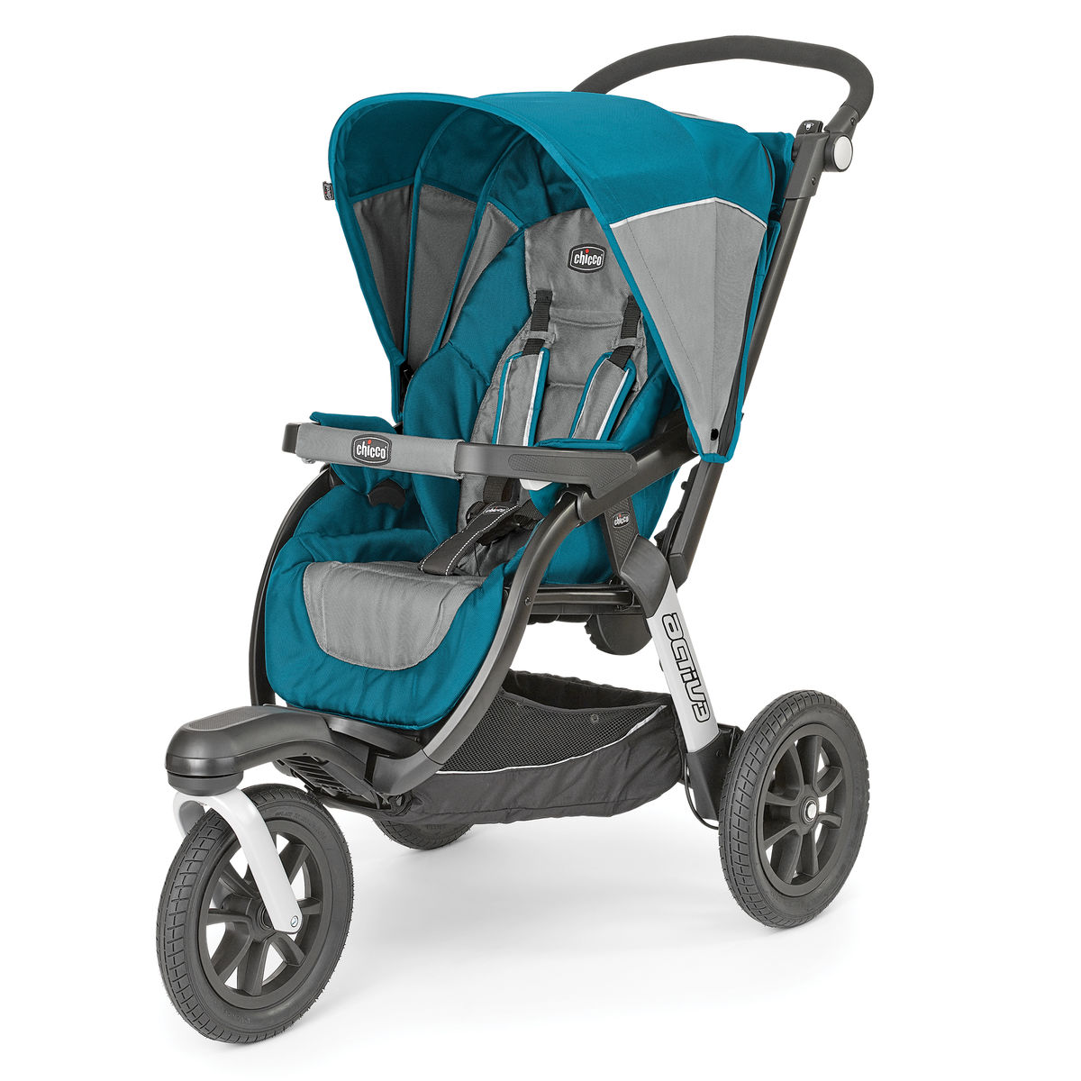 Chicco Activ3 Lightweight Canopy Sporty Adjustable Jogging Stroller, Polaris