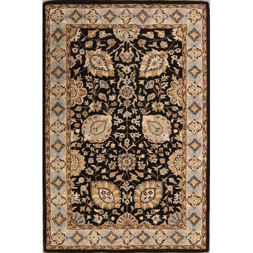 Bloomsbury Market Marisela Agra Persian Style Oriental Hand-Tufted Wool Brown/Black Area Rug