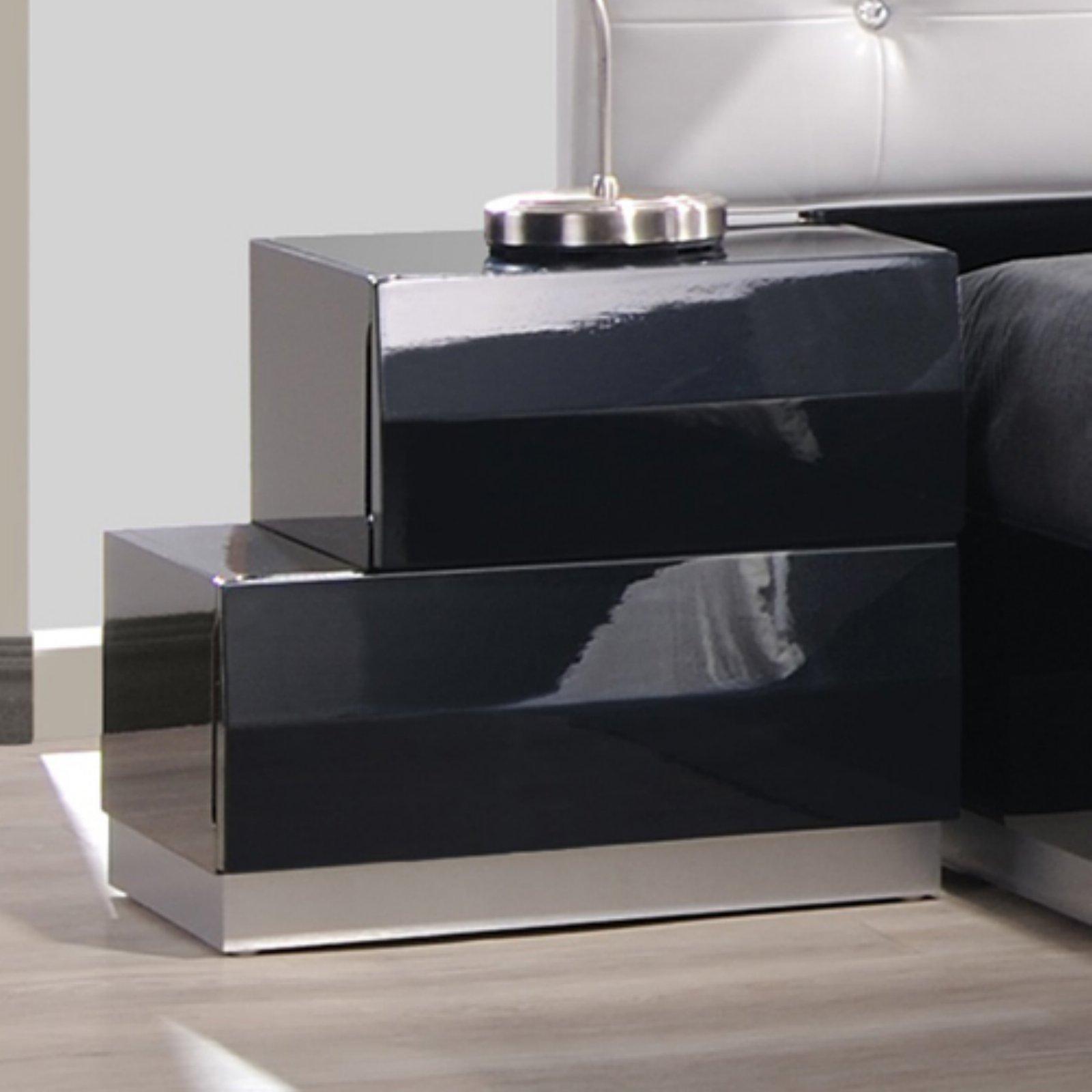 J&M Furniture Milan 2 Drawer Left Nightstand