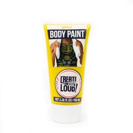 (2 Pack) Body Paint 3.4 Oz Tube - Yellow (Non Latex Body Paint)