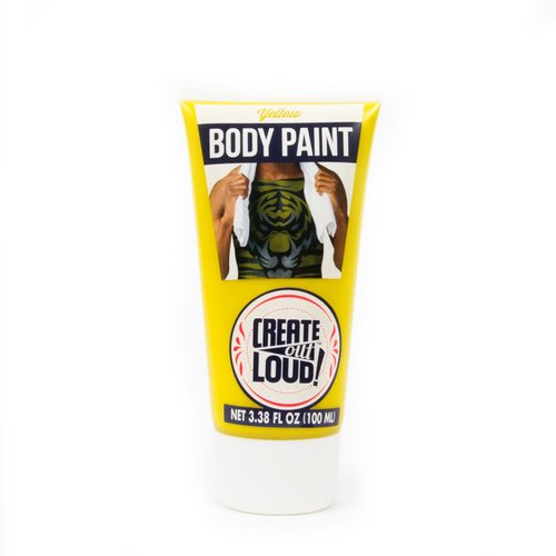 (2 Pack) Body Paint 3.4 Oz Tube - Yellow