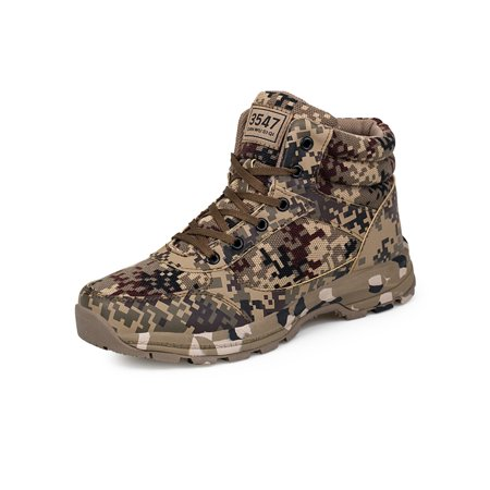 Military Tactical Army Boots Desert Combat Outdoor lace up Camouflage Hiking shoes