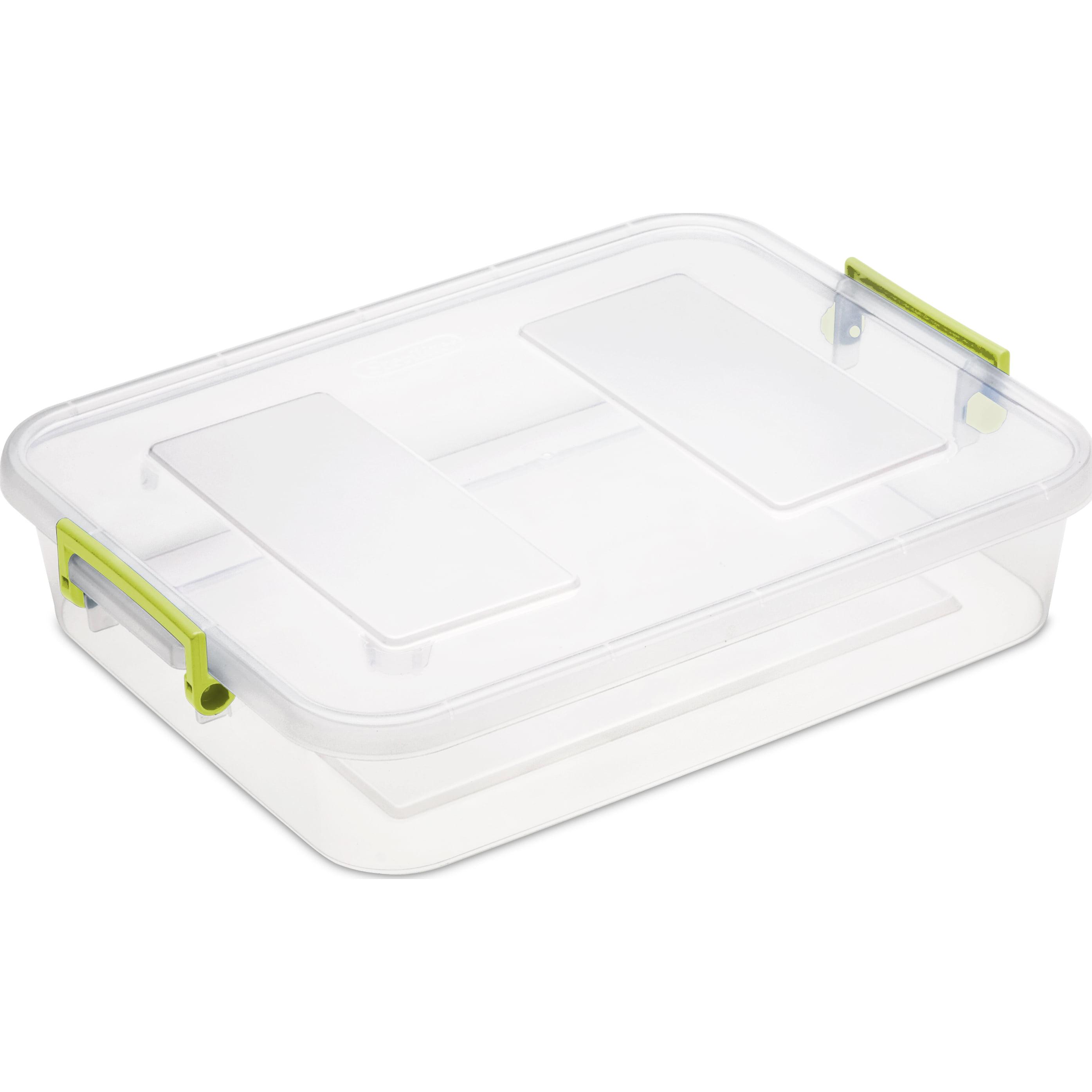 Sterilite 6.2 Qt Modular Latching Box, Bamboo