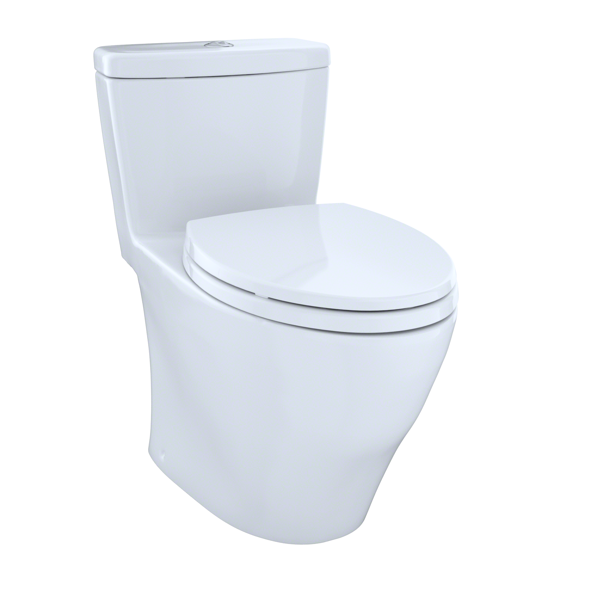 TOTO® Aquia® One-Piece Elongated Dual-Max®, Dual Flush 0.9 & 1.6 GPF Universal Height Skirted Toilet, Cotton White - MS654114MF#01