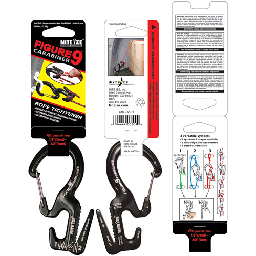 Nite Ize Large Carabiner, Figure 9, Black