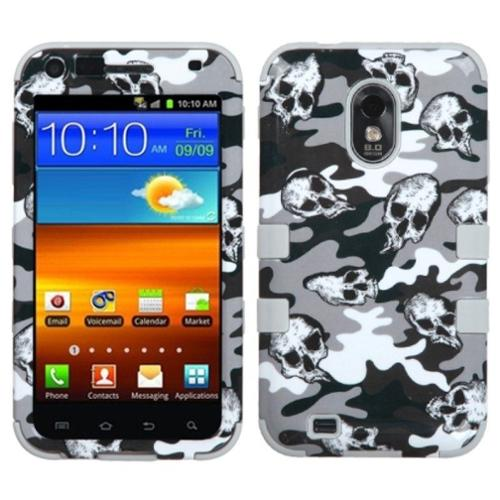 Insten Skull Camo Gray TUFF Hybrid Case For SAMSUNG D710 Epic 4G Touch Galaxy S2 4G