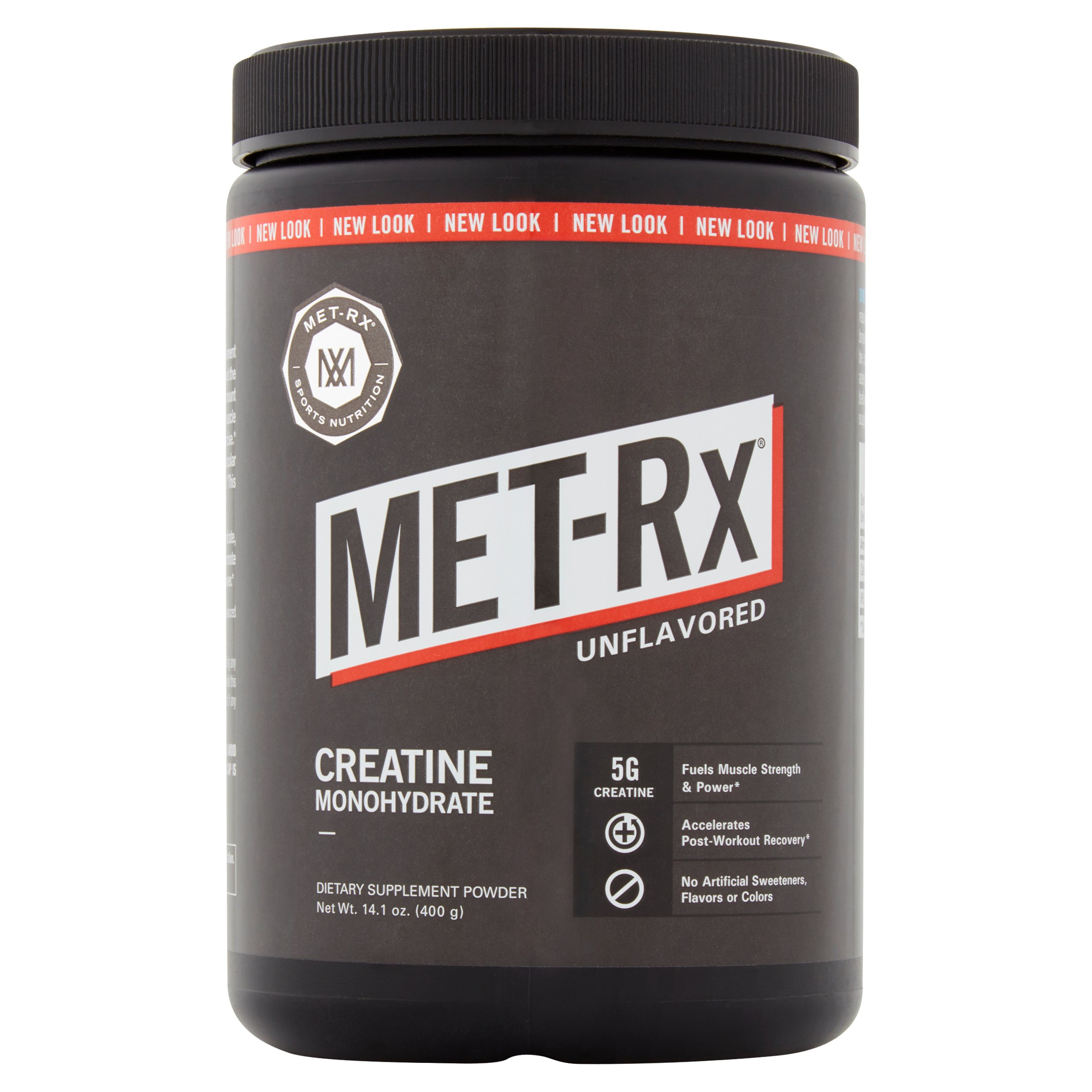 MET-Rx Creatine 100% Pure Creatine Monohydrate Dietary Supplement Powder, 14.1 oz